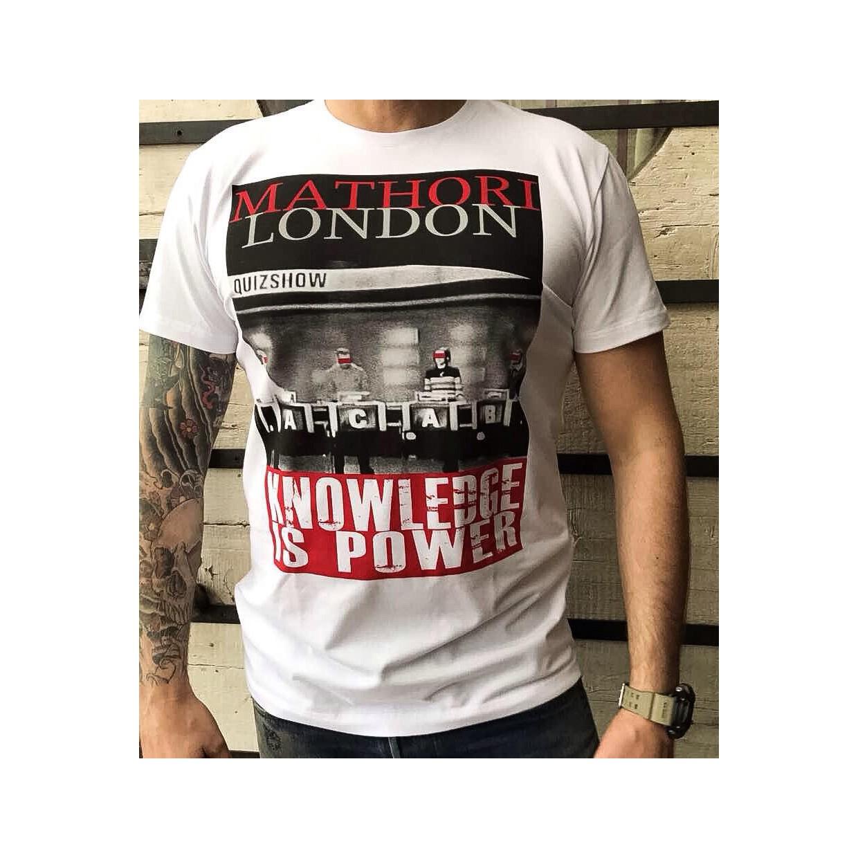 Mathori London - ''Knowledge is power'' Heavy T-Shirt in White
