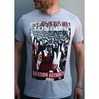 Mathori London - The World is Yours T-Shirt (Melange Grey)