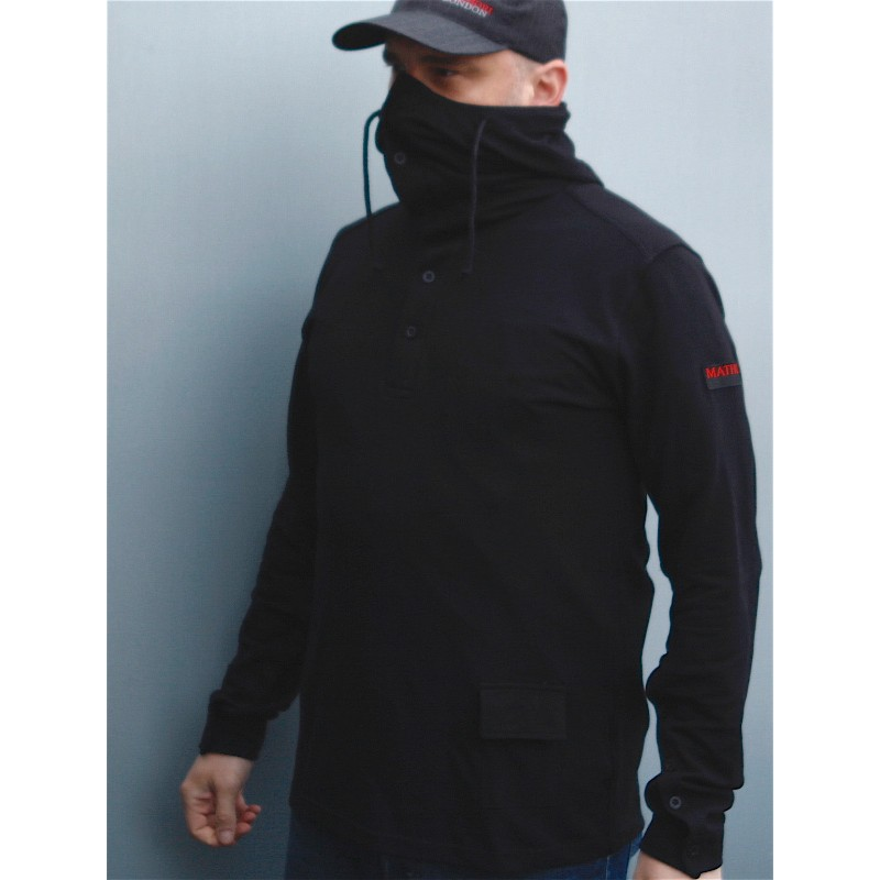 Mathori London - Pique black hoodie