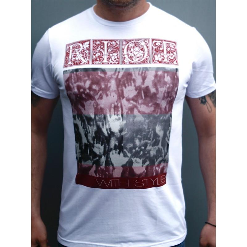 Mathori London - Hands Only  T-Shirt in White