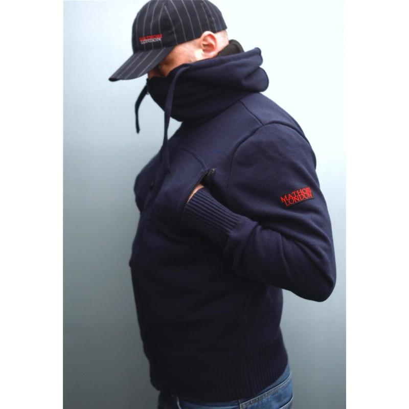 Mathori London - Budicca Navy Blue Woolen Hoodie