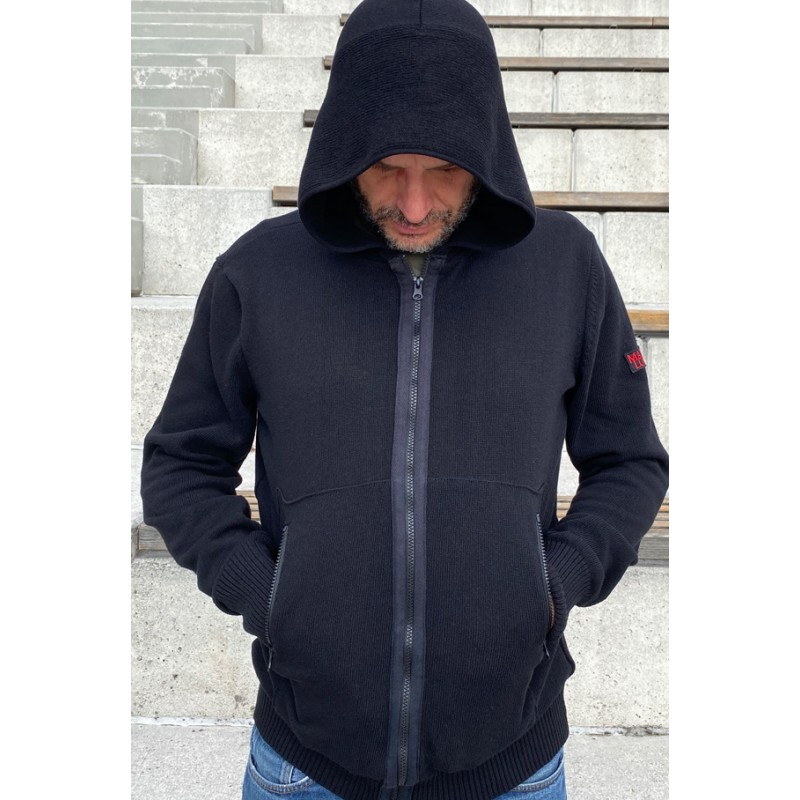 Mathori London - Black Hooded Cardigan AW 20/21