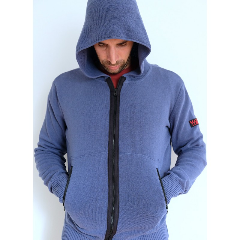 Mathori London - ROYAL BLUE HOODED CARDIGAN AW 20/21