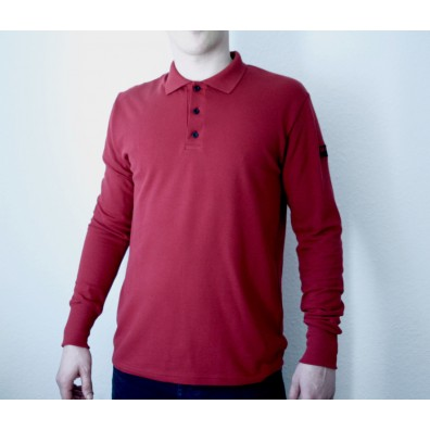 Mathori London - Maroon long sleeve polo