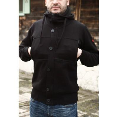 MATHORI LONDON - BUDICCA BLACK WOOLEN CARDIGAN
