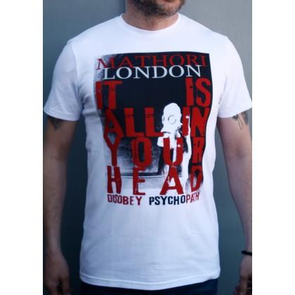 Mathori London - Disobey Psychopath T-Shirt in White