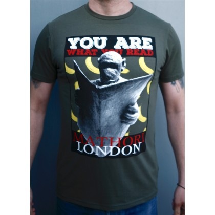 Mathori London - ''Monkey and bananas'' T-Shirt (Olive Green)