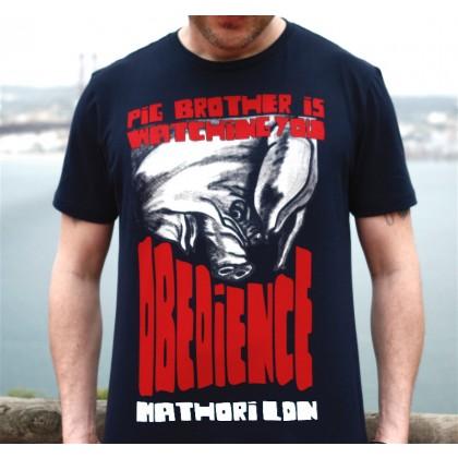 Mathori London - Obedience Navy Blue T-Shirt