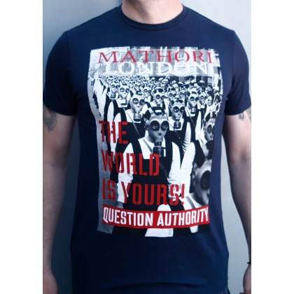Mathori London - The World is Yours T-Shirt (Navy)